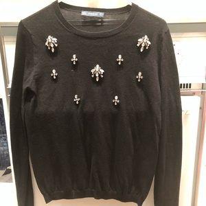 Zara black embellished sweater